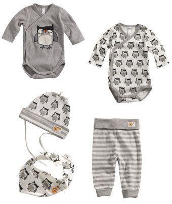 7a097516e36a Ekologiska babykläder med ugglor från Ellos - Barnnet.se