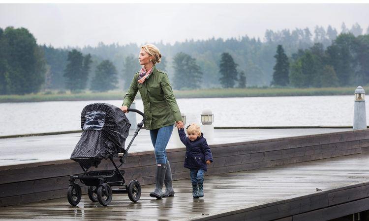 Regnskydd för barnvagnen