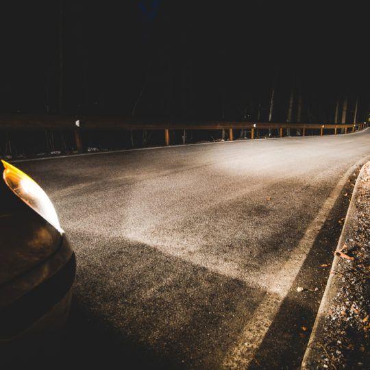 Bil på natten - reflextest